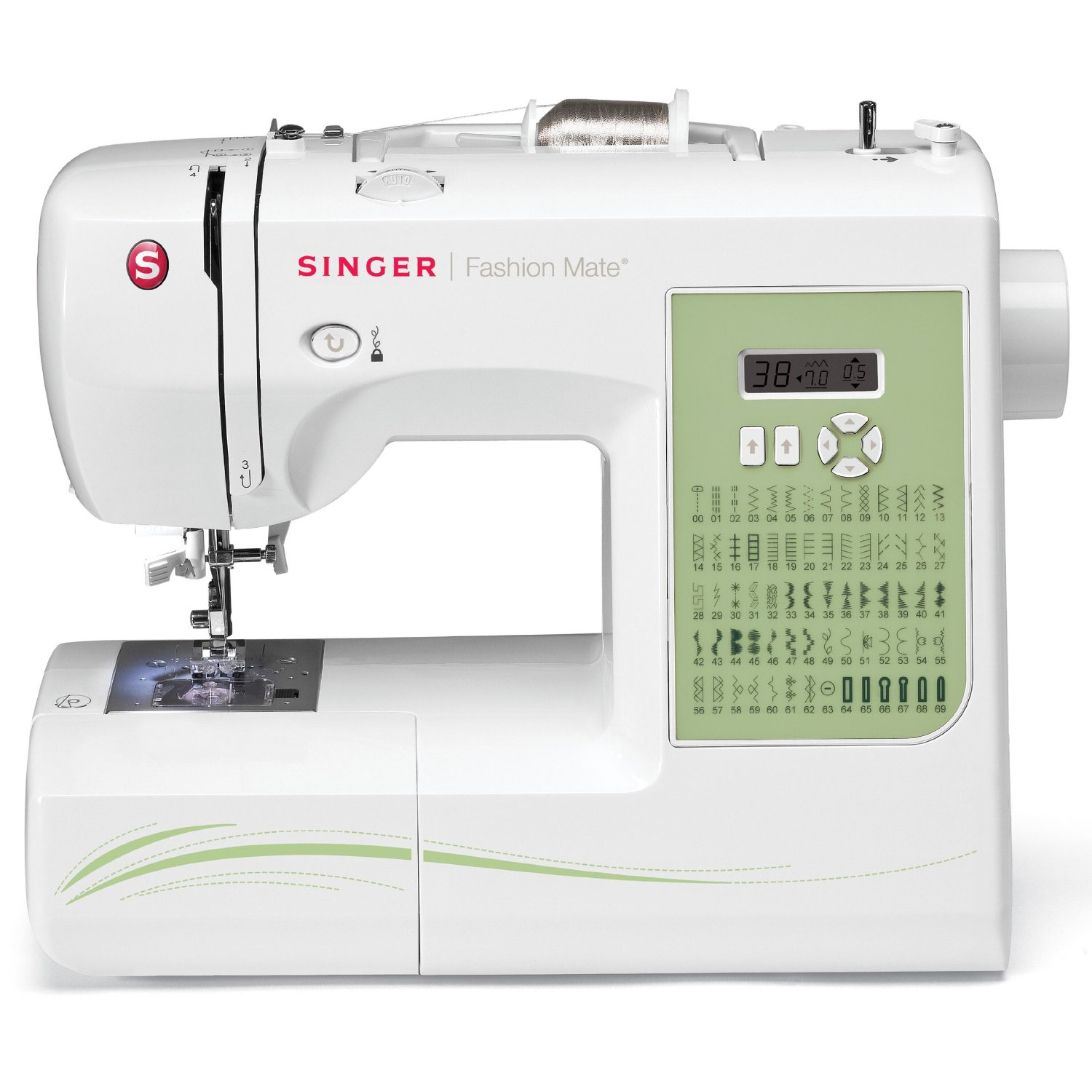 The Singer 7256 is a top rated computerized sewing machine