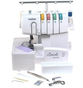 The Brother 1034d is a perfect serger for beginners and more advanced users