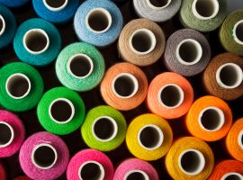 Different colors of thread for sewing