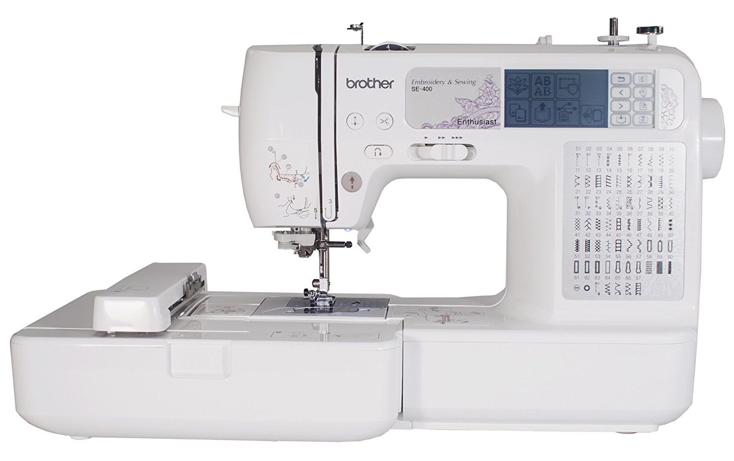 Review brother se combination computerized sewing and