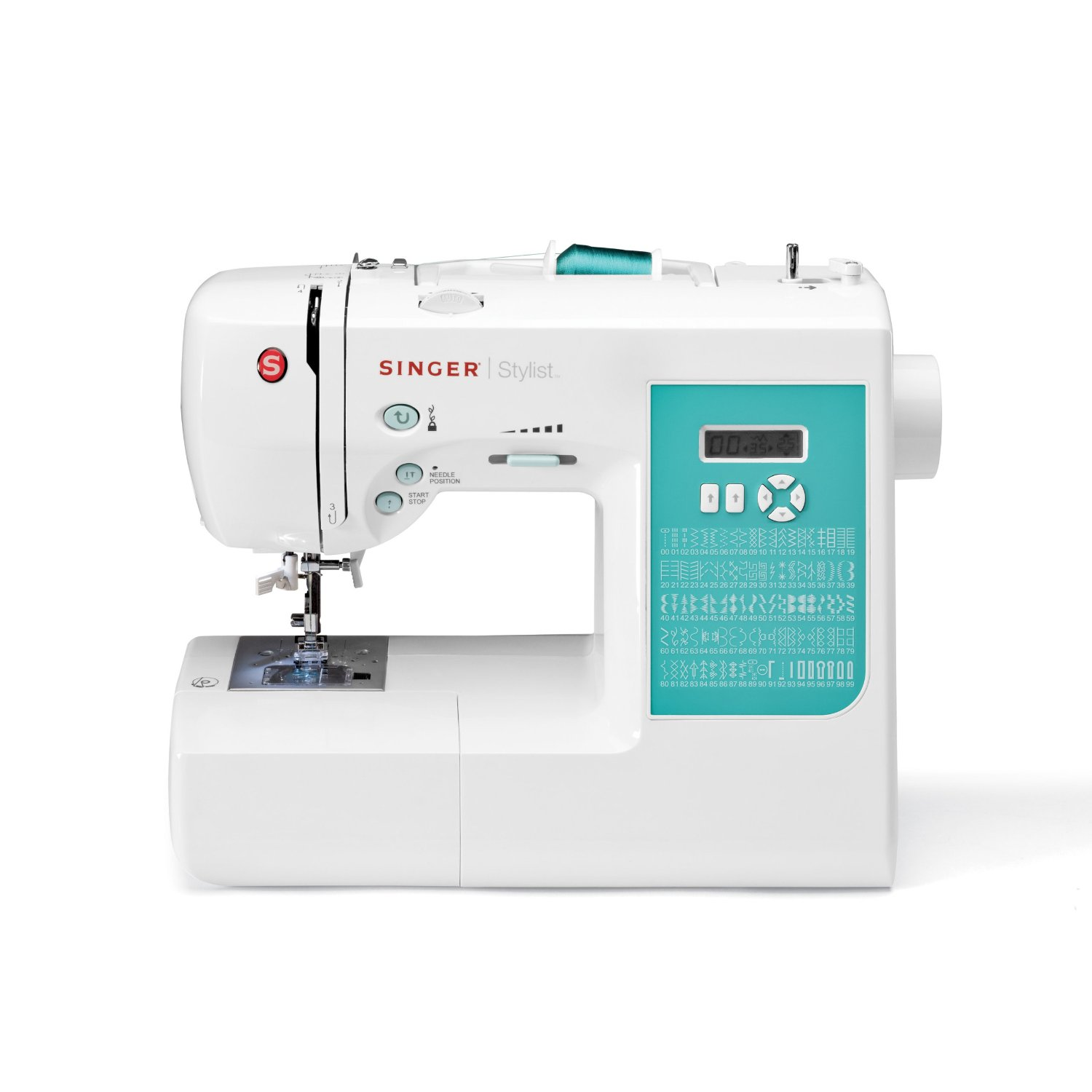 The Singer 7258 is a computerized sewing machine that is easy enough for a beginner