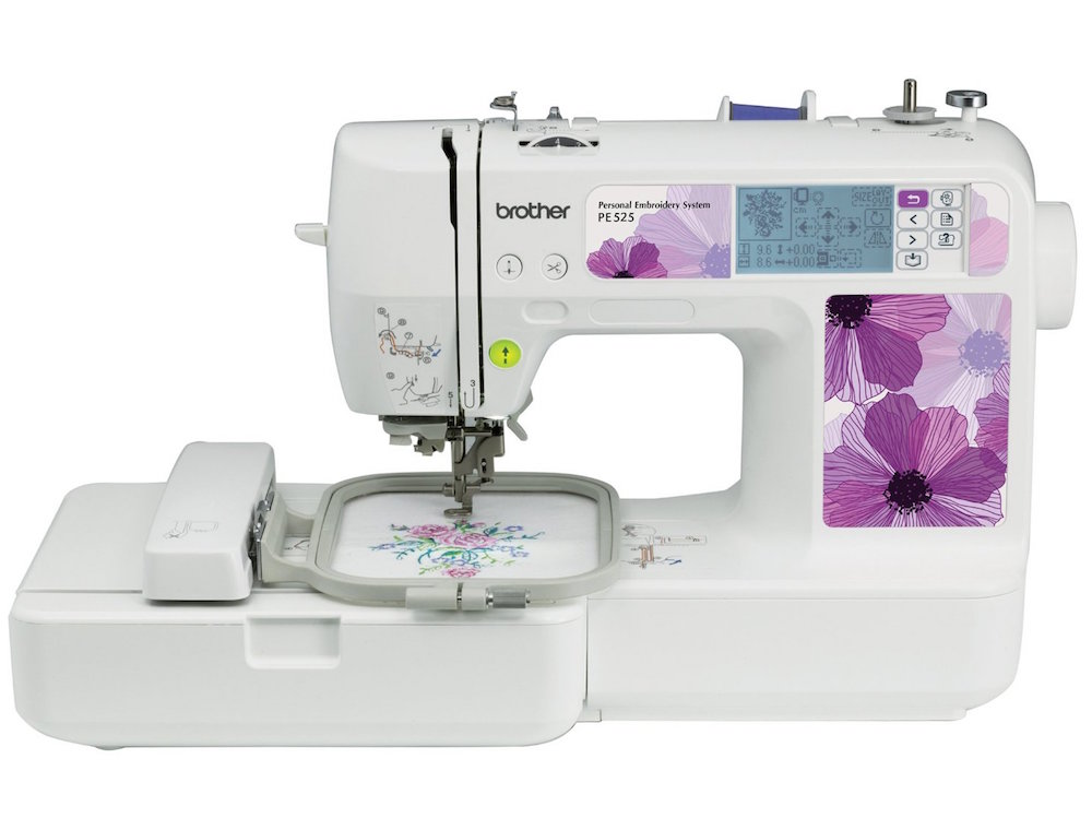 The PE 525 from Brother is a perfect embroidery machine for home use