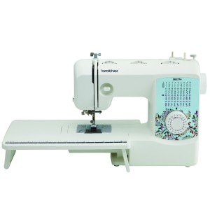 The XR3774 is the most inexpensive Brother sewing machine that includes a table for quilting and other large projects.