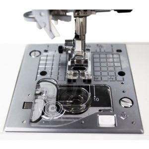 The Drop-In Bobbin features makes loading the Juki F600 very easy