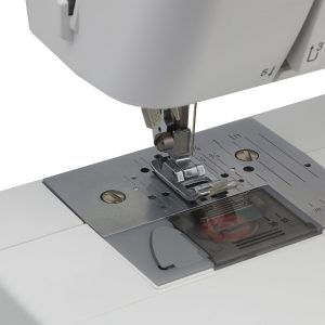 The ST371HD features a convenient drop-in bobbin system