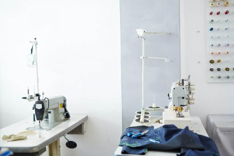 Empty tailoring workshop