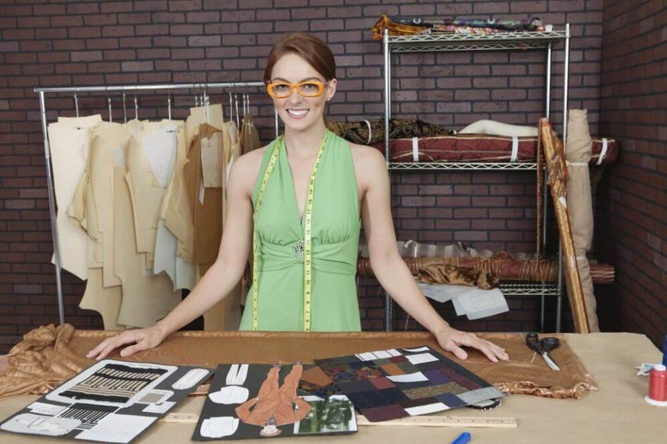 Pretty female fashion designer