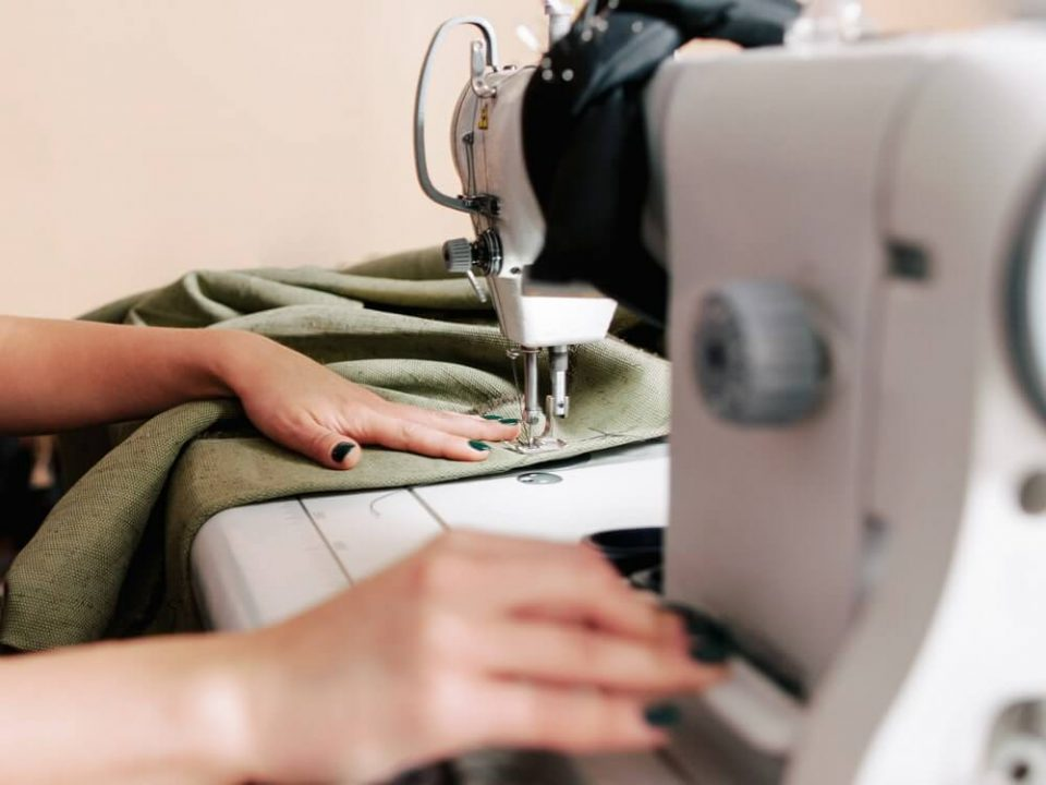 Upholstery manufacturing seamstress sewing machine